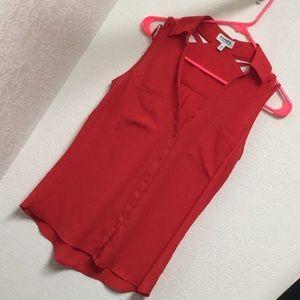 Express red sleeveless shirt